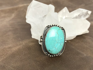 Oval Turquoise ring-SS1914R1