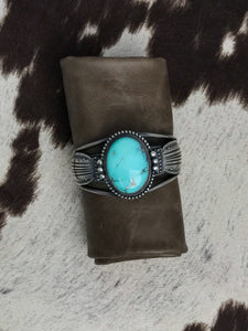 Turquoise and Silver Cuff-SS1802C