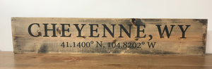 Wood Cheyennen sign