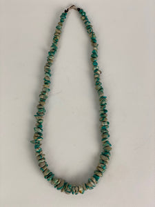 Turquoise Colored Chip Necklace-BULK$40x7