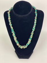 Load image into Gallery viewer, Turquoise Colored Chip Necklace-BULK$40x7