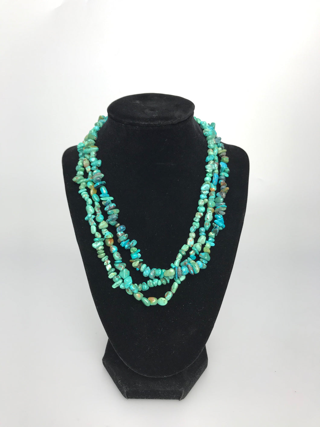 3 Strand Turquoise Beaded necklace
