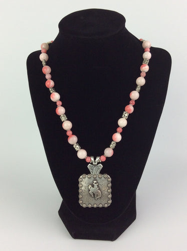 Beaded Concho necklace