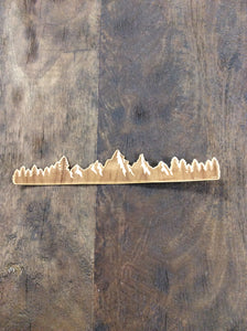 Mountain Strip 3D Laser Cut Wood Sticker