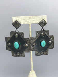 Silver and Turquoise Earring-P1901ER