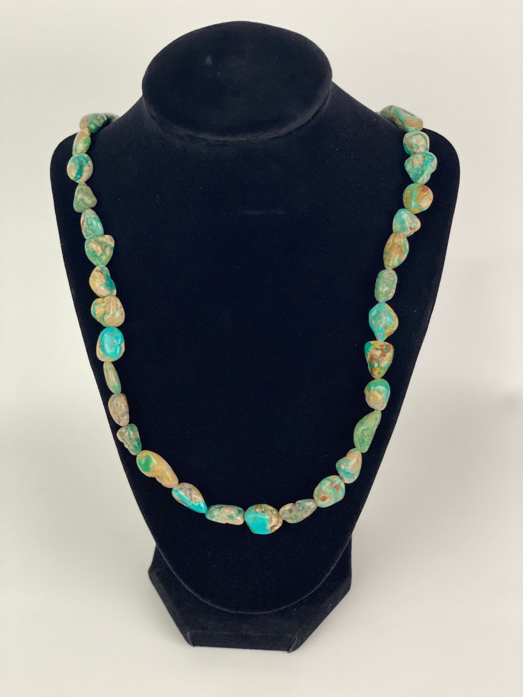 Raw Turquoise Beaded Necklace-SS1901N