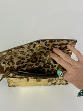 Load image into Gallery viewer, Cheetah Cow Hide Leather Crossbody Mini with Upcycled LV Accent