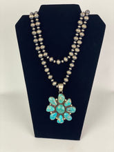 Load image into Gallery viewer, Sterling and Turquoise Cluster Pendant-SS1905P