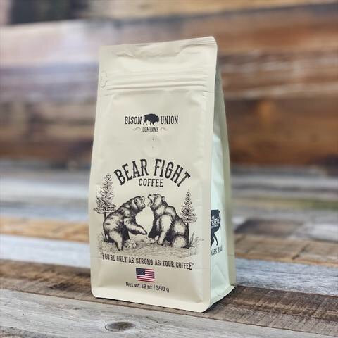 "Bison Union Coffee "" Bear Fight""Ground"