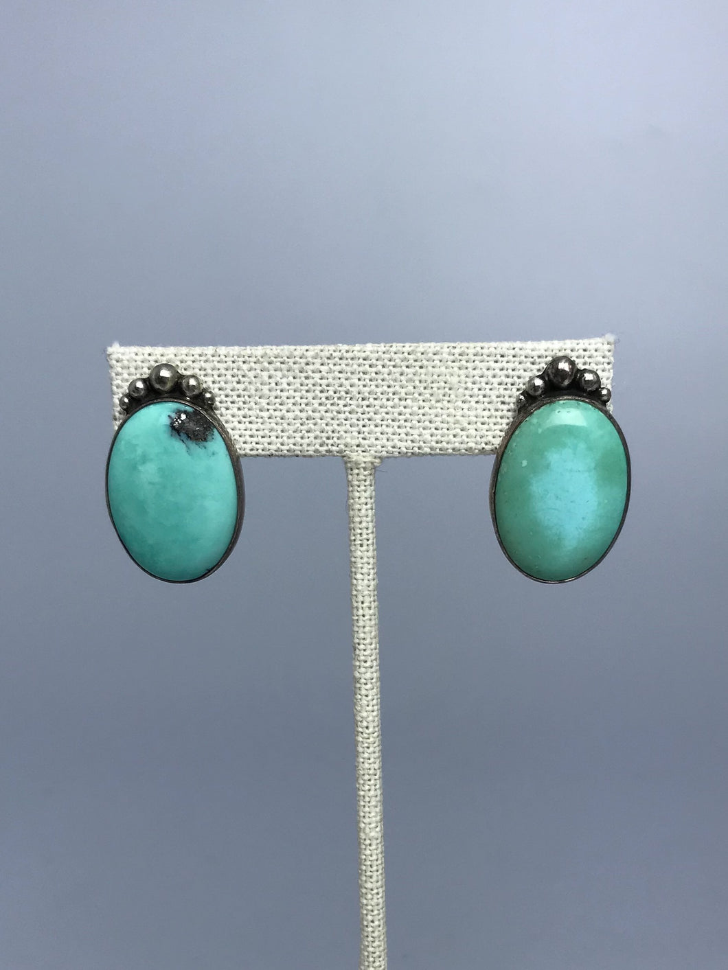 Turquoise Round Post Earrings