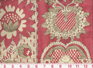 Fleur Candie CL Rouge Upholstery Fabric by Clarence House