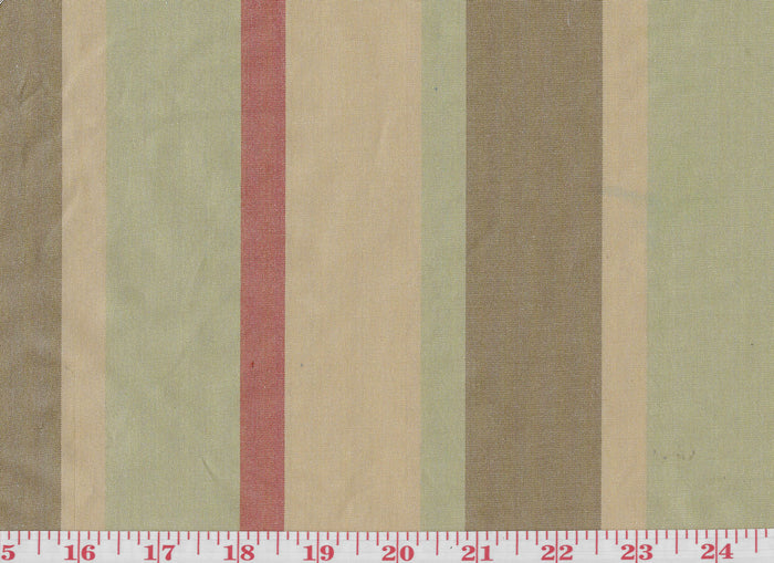 Lithgow Stripe CL Sandalwood Drapery Upholstery Fabric by Hill Brown