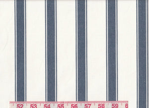 Stryper CL Navy Drapery Upholstery Fabric by Sheldon and Barnett