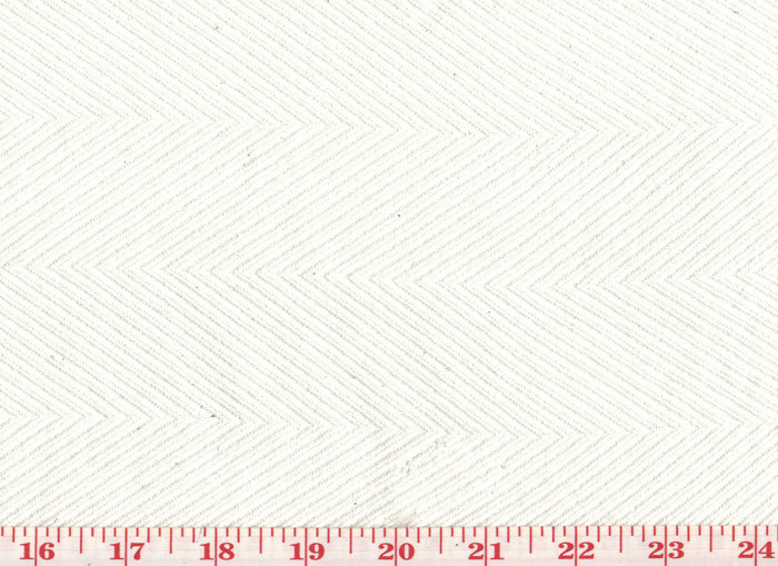 Chevron CL White Upholstery Fabric by Diversitex
