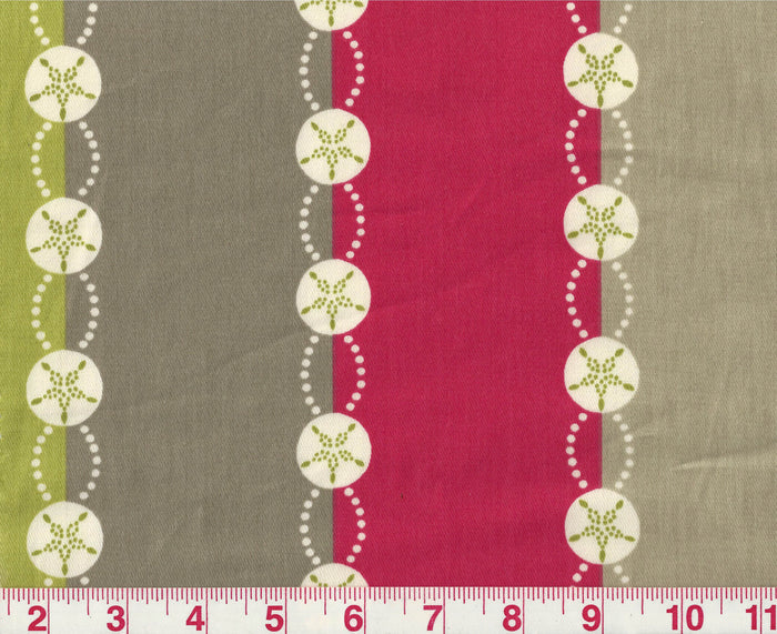 Belize Stripe CL Pink - Sand Drapery Fabric by P Kaufmann