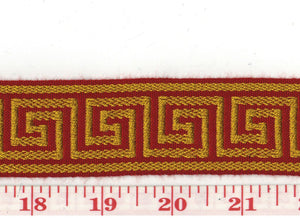 Petite Galon Athenee CL Rouge Or Trim by Clarence House