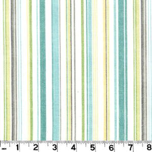 Hilary Stripe CL Surf Drapery Upholstery Fabric by Roth & Tompkins