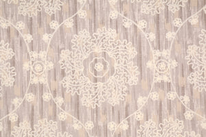 Mythical Medallion CL Pearl Upholstery Fabric by P Kaufmann