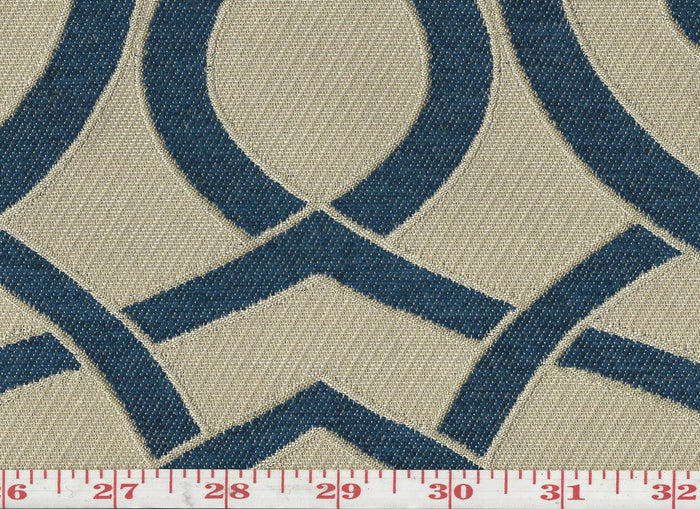 Charlotte CL Navy Upholstery Fabric by KasLen Textiles