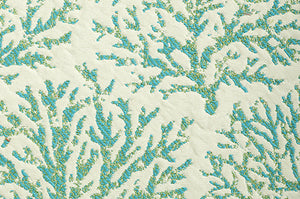 Coraline CL Turquoise Indoor Outdoor Upholstery Fabric by Bella Dura