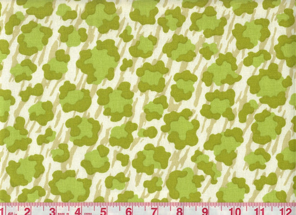 Simba CL Palm Green Drapery Fabric by P Kaufmann