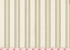 Saratoga Ticking Stripe CL Beige Drapery Upholstery Fabric by Golding Fabrics