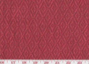 Ascott Diamond CL Red Upholstery Fabric by Clarence House