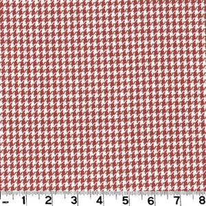 Minnie Check CL Persimmon Upholstery Fabric by Roth & Tompkins