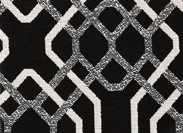 Alexandria CL Black - White Indoor Outdoor Upholstery Fabric by Bella Dura