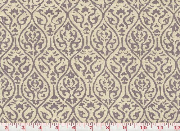 Jali Handprint CL Orchid Drapery Upholstery Fabric by Laura & Kiran
