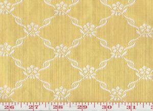 Lucy CL Yellow Drapery Upholstery Fabric by Hill Brown