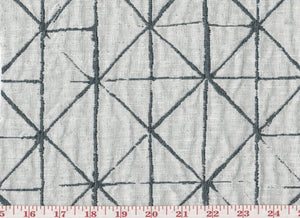 Lezzeno CL Charcoal Linen Drapery Upholstery Fabric by G-TEX