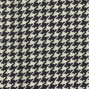 Houndstooth CL Black Antique White Upholstery Fabric by Roth & Thompkins