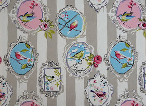 Aviary CL Dove Drapery Fabric by Golding Fabrics