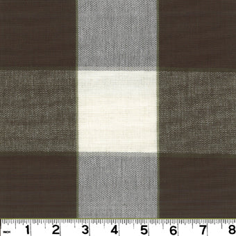 Monroe CL Chocolate Drapery Upholstery Fabric by Roth & Tompkins