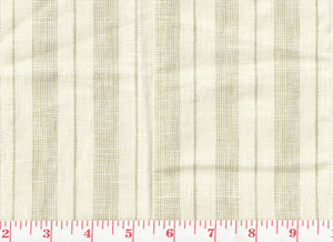 Baldwin Linen Ticking CL Oat Drapery Fabric by Ralph Lauren