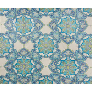 Drama Queen Blue Lime Upholstery Fabric by Kravet