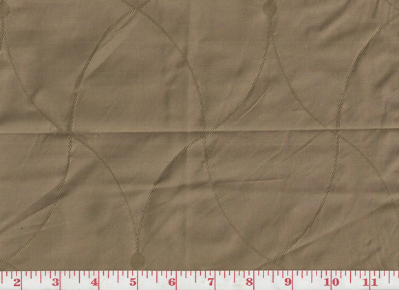 St. Laurent CL Taupe Drapery Fabric by Clarence House