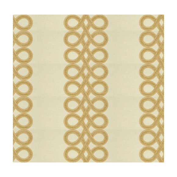 The Twist White Gold Upholstery Fabric by Kravet