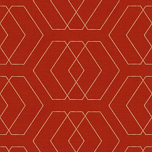 Temple Robe Tomato  Upholstery Fabric By Kravet