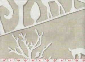 Jungle Walk CL Natural Drapery Upholstery Fabric by Braemore Textiles