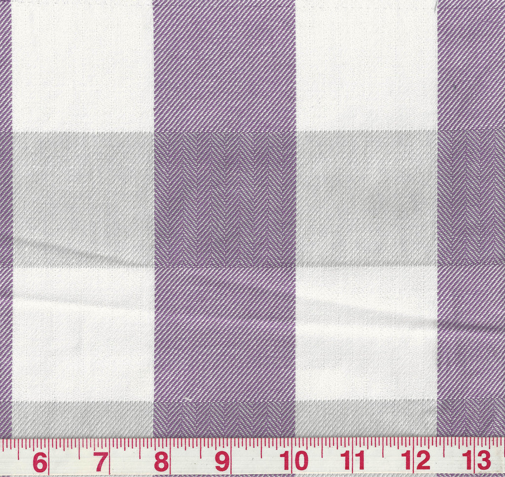 Foxy Plaid CL Lilac Upholstery Fabric by P Kaufmann