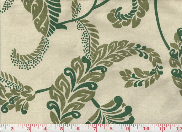 Malta Handprint CL Green Apple Drapery Upholstery Fabric by Laura & Kiran