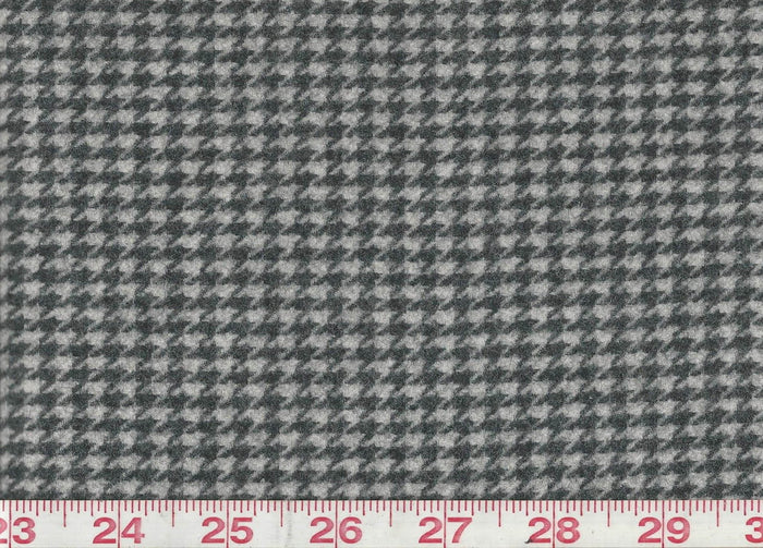 Warrendale Houndstooth CL Grey Flannel Upholstery Fabric by Ralph Lauren Fabrics
