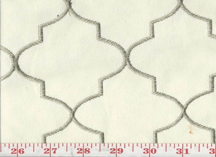 Hepburn CL Stone Upholstery Fabric by KasLen Textiles