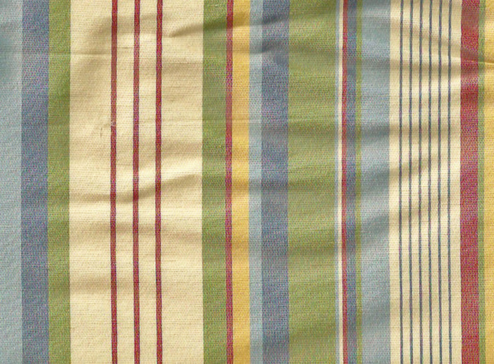 Shannon Stripe / Waterford Blue Drapery Upholstery Fabric