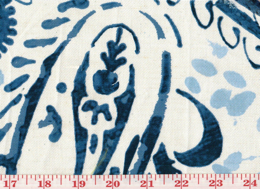 Puglia Paisley CL Indigo Drapery Upholstery Fabric by Clarence House