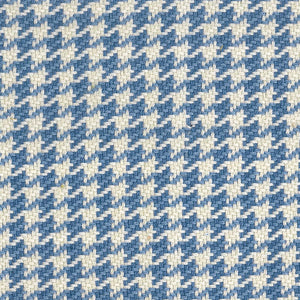 Houndstooth CL Cornflower Upholstery Fabric by Roth & Tompkins