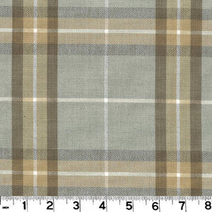 Harrison Plaid CL Linen Upholstery Fabric by Roth & Tompkins
