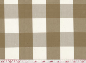 Squared CL Tobacco Drapery Upholstery Fabric by Sheldon and Barnett